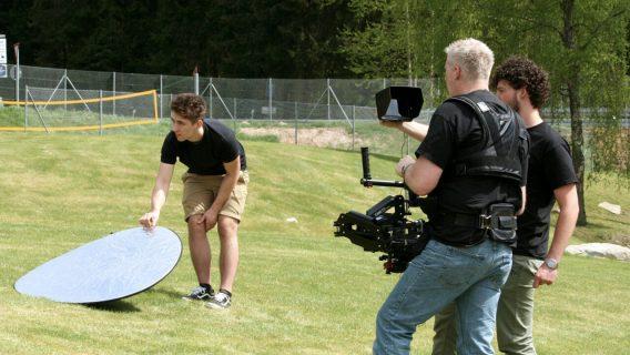 Das Team beim Dreh eines Imagefilms