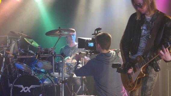 Voller Einsatz beim Dreh eines Musikvideos für die Band Roxxess