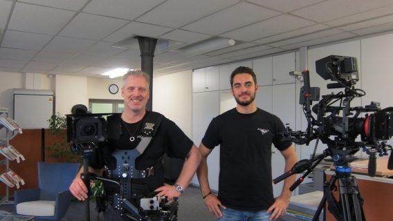Das Team beim Dreh eines Corporate Films