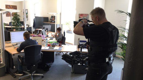 Einsatz der Steady Cam beim Dreh eines Corporate Films