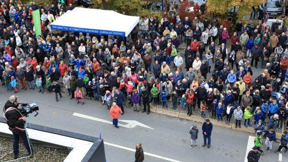 Live Übertragung vom Vordach der Oberpfalz Medien in Weiden