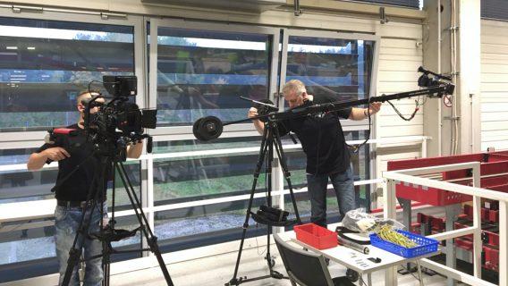 Einsatz des Kamerakrans beim Dreh eines Corporate Films