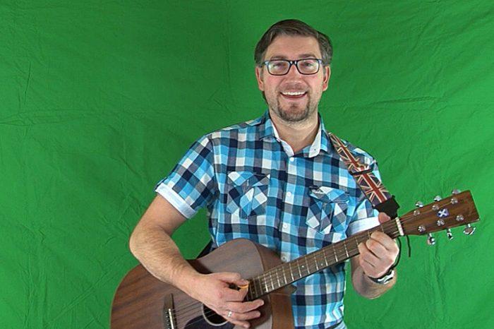 Green Screen Aufnahme mit Stefan Otto und Gitarre