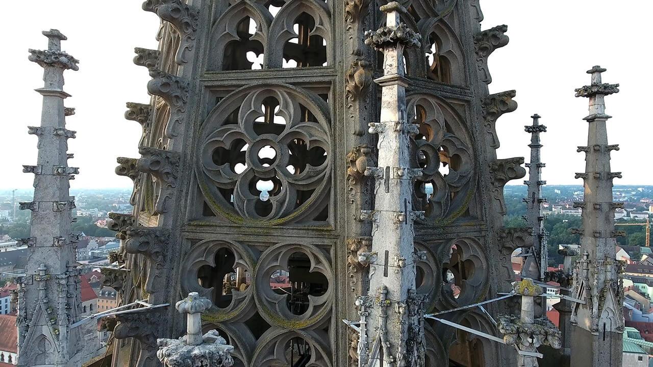 Wartungsflug Regensburger Dom